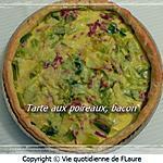 recette Tarte aux poireaux, bacon