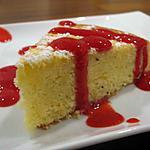 recette Gâteau aérien au citron-pavot et son coulis de framboises