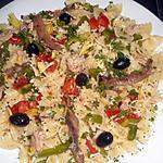 recette Salade de farfalle à la niçoise