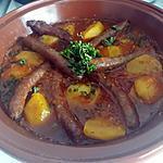 recette TAJINE DE MERGUEZ