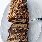 recette Marbré aux 2 chocolats