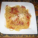 recette Spaghettis all'amatriciana
