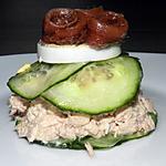 recette Hamburger de concombre fourré au thon