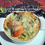 recette Gratin De Poireaux Et Saint-Jacques