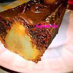 recette Gâteau au Amande Chocolat & Poire Entière