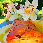 recette Divin gâteau pitch coco cassis  ( sans sucres et sans beurre)