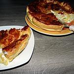recette Tarte aux pommes de terre et aux oignons
