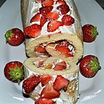 recette Roulé aux fraises et mascarpone