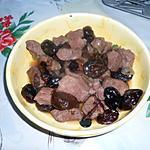 recette Sautés de porc aux pruneaux