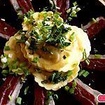 recette Raviolis aux cèpes , magret séché et herbes fraîches, un plat en 5 minutes !