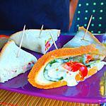 recette Petits sandwichs sains végétariens avec 3x rien.