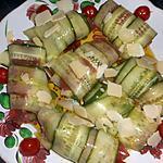recette Roulades de concombre en carpaccio