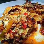 recette Cannellonis fourrés de haché et sa petite sauce poivrons