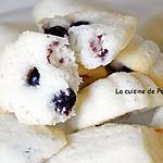 recette Financier coco et cassis, sans gluten