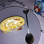 recette Roulé au mascarpone et aux brugnons