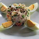 recette Salade de thon et sa corolle d'oeuf