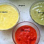 recette Sauces mojo rouge, vert et jaune.
