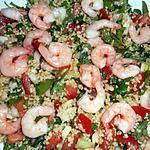 recette Taboulé aux crevettes