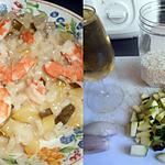 recette RISOTTO AU CHAMPAGNE ZUCCHINA E GAMBERETTI
