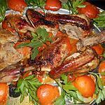 recette Canette rotie aux abricots