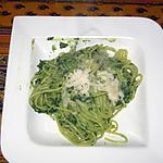 recette Spaghettis à la crème d'épinards et ricotta