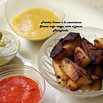 recette Patatas Bravas à la canarienne, sauces mojo.