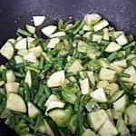 recette Poêlée aux légumes verts du jardin