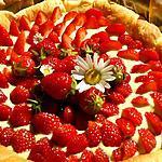 recette Tarte fraises et crème de pistache au mascarpone
