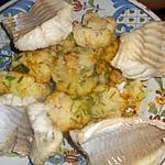 recette Filet de lingue ,chou fleurs au curry et sauce hollandaise