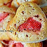 recette Muffin aux fraises et amandes