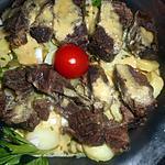 recette Salade de pommes de terre nouvelles à la joue de boeuf