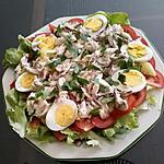 recette Salade repas à la daurade