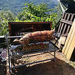recette Méchoui de mouton farci a la semoule et ses petits légumes