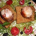 recette Crottin de chévre au lard