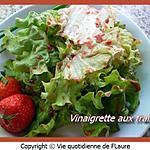 recette Vinaigrette aux fraises
