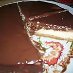 recette Cheesecake nappé au chocolat