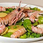 recette Salade de pommes de terre aux légumes et langoustines