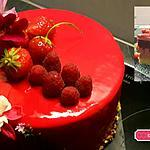 recette Entremet vanille-fraise-framboise