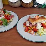 recette Assiettes de salade composée