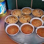 recette Muffin's natures ou aux pépites de chocolat ( les 2 recettes )