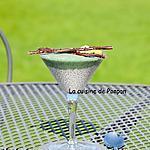 recette Smoothie kiwi coco et spiruline sur une crème de graines de chia au lait de coco