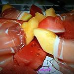 recette Melon au jambon Serrano et pastèque (très simple)