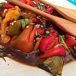 recette Salades de poivrons marinés