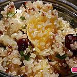 recette Salade de quinoa orange, fenouil et serac