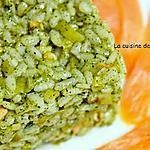 recette Risotto à la spiruline et saumon fumé