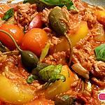 recette Pâtes au thon, tomates, câpres et basilic , un plat en 10min!!!!