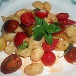 recette GNOCCHI POELES AUX PETITES TOMATES CERISES ET BASILIC