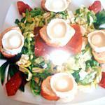 salade de chévre et à la viande grison