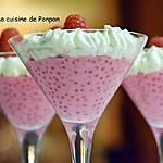 recette Perles du Japon au lait de coco et framboises