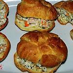 recette Petits choux farcis aux crabes